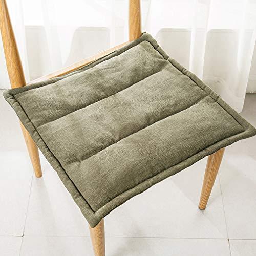 Stoelkussen met banden, zitkussens voor eetkamerstoelen, vierkant Effen kleur Ademende kussens - voor rieten stoel - Binnen/buiten 43x43cm (17x17 inch)