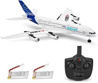 RC Airplanes 3CH 2.4Ghz 510mm Wingspan Glider DIY EPP Assemble Remote Control Airplane Toy Built-in 6-Axis Gyro A120-A380 Beginner Remote Control Plane with 2pack Battery