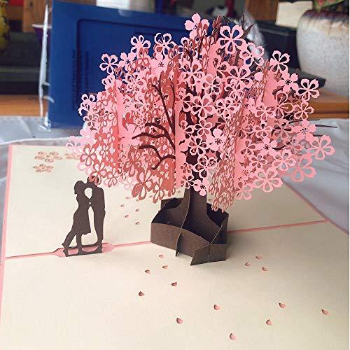 立体バースデーカード、手作り3Dポップアップカード、お誕生日カード、フラワーカード、メッセージカード、七五三祝い、母の日、父の日、結婚記念日、バレンタインなどに最適なグリーティングカード、Pop up card 祝福カード