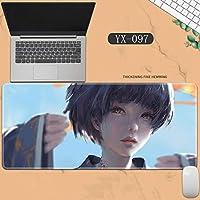 素敵なマウスパッド特大アイスプリンセスゴーストナイフ風チャイムプリンセスアニメーション肥厚ロック男性と女性のキーボードパッドノートブックオフィスコンピュータのデスクマット、Size :400 * 900 * 3ミリメートル-YX-097