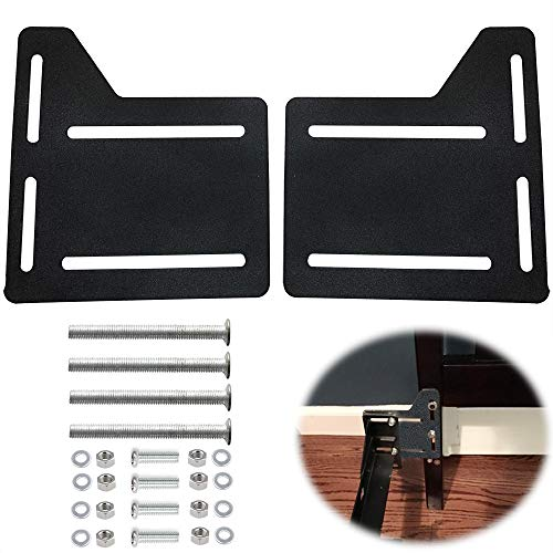 2Pcs Bed Frame Brackets Adapter for Headboard Extra, Heavy Duty Bed Modification Plate, Headboard Attachment Bracket with Hardware