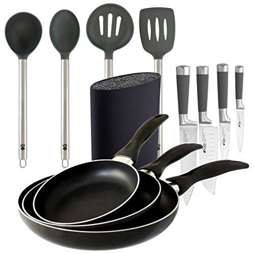 Bergner PK347 Equipa tu Cocina Cuchillos, Tacoma, sartenes y...