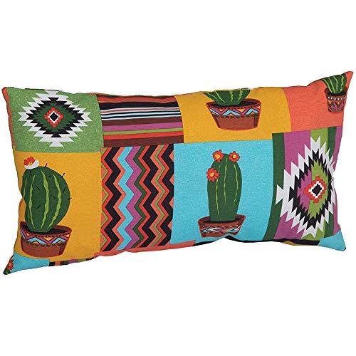 Beo Sofakissen | mit Füllung und Bezug | Gr. ca. 60x40 cm | Couchkissen für Lounge-Möbel | Bezug mit Print Motiv Mexiko | atmungsaktiv und pflegeleicht