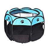 Mefeny tragbares faltbares Zelt der Haustier Haus von Hund Cage Hund Katze Zelt Laufstall Welpen Zwinger einfache Operation Achteckige Zaun #B