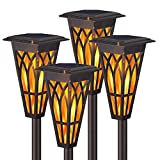 Solar Torch Lights – Solar Flame Torch Lights Outdoor 4 Pack 2...