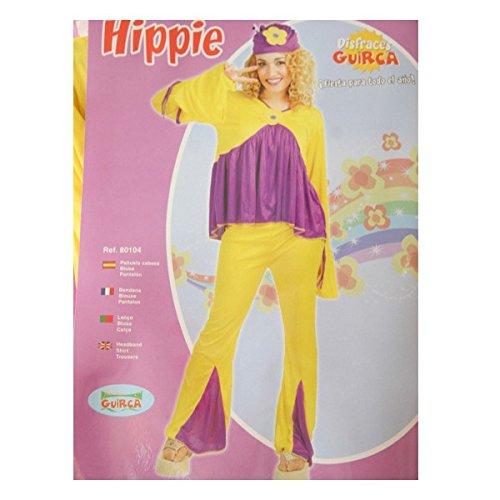 Guirca Disfraz de Hippie. Talla única de Mujer.