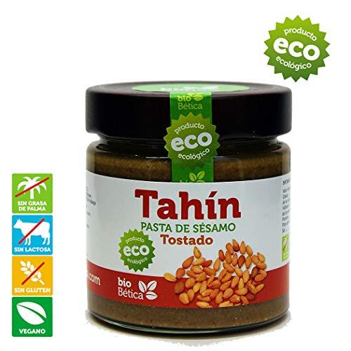 Tahín Tostado 100% BIO bioBética - 190 gr - Tahini Tostado - Pasta de sésamo Tostado