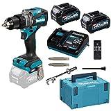 Makita HP001GD201 Trapano Avvitatore a percussione 40 V Max. /2,5 Ah, 2 batterie + Caricatore in MAKPAC