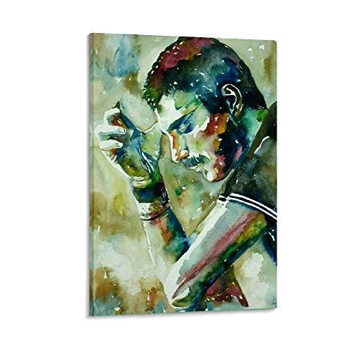 DIDIWEI Acuarela Freddie Mercury Dibujo - Poster artistico da parete, stampa artistica da parete, 20 x 30 cm