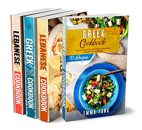 Mediterranean Cookbook for Beginners: 4 Books in 1: 280 Recipes For Healthy Greek And Lebanese Dishes