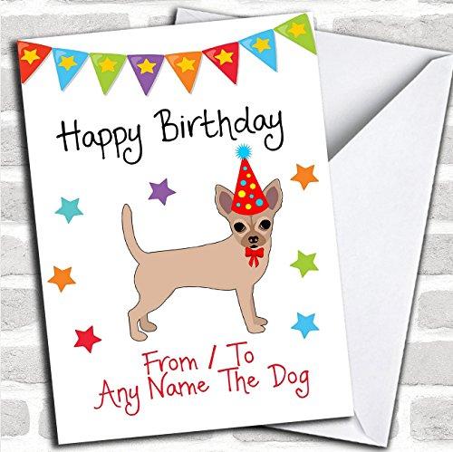 Naar Van Hond Chihuahua Aangepaste Verjaardagskaart