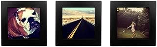 Tiny Mighty Frames 3-Set, Natural Wood, Square, Instagram, Photo Frame, 4x4 (3, Black)