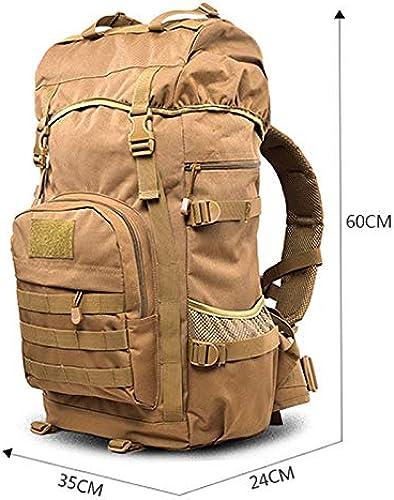 LSXUE Sac d'alpinisme en Plein air pour Hommes et Femmes. Sac à Dos Grande capacité Camouflage Sac de Voyage Sac à Dos de l'armée, Sac à Dos Tactique (Camouflage).