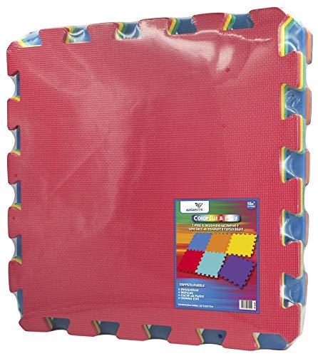 AZIAMOR 3506 Tappeto Maxi Puzzle Giganti, 60 x 60 cm, Colori Assortiti