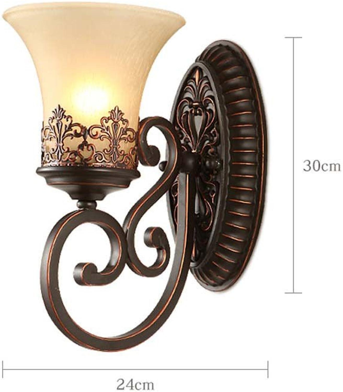 StiefelU LED Wandleuchte nach oben und unten Wandleuchten Harz geschnitzten Schlafzimmer Nachttischlampe Wohnzimmer Flur Wandleuchten, 8112-1 W (mit 7-W-Lampe)