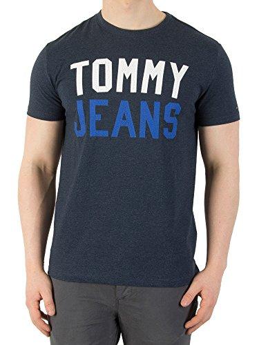 Tommy Hilfiger College Logo Camiseta, Azul (Black Iris 002), Small para Hombre