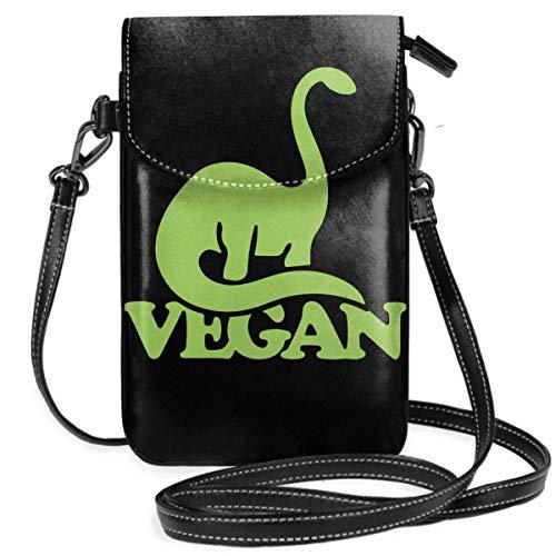 Becomfort Borsa piccola per cellulare con dinosauro vegano con slot per carte di credito Borsa a tracolla per portafoglio per donne e ragazze adolescenti