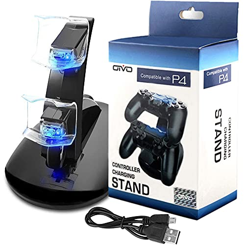 PS4 Controller Charger, Kailisen Playstation 4 Charging Station for Sony PS4 / PS4 Pro / PS4 Slim DualShock 4 Controller, Dual USB Fast Charging Docking Station Stand with LED Indicator Light