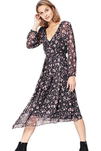 find. 13608 vestiti donna, Nero (Black Mix), 40 (Taglia Produttore: X-Small)