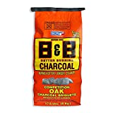 B&B Charcoal Slow Burning Oak Charcoal Briquettes with All Natural Smoky Flavoring for Grills, Barbecues, and Pitmaster Competitions, 17.6 Pounds