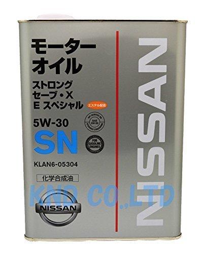NISSAN 日産純正 エンジンオイル ストロングセーブX Eスペシャル SN 5W-30 化学合成油 4L KLAN6-05304