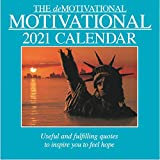 2021 Wall Calendar - Demotivational Quotes, 12 x 12 Inch Monthly View, 16-Month, Includes 180 Reminder Stickers