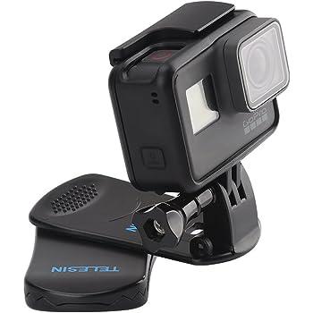 TELESIN GoPro クリップ マウント ゴープロ クリップマウント アクセサリー 360°回転式 Hero 9 /8/7/6/5 DJI OSMO Action アクションカメラ対応