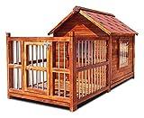 Perreras para exterior Perreras al aire libre Casa de Madera perro grande impermeable lavable perro de interior Casa del gato cachorro Guinea Pig Casa fácil de limpiar regalo Villa Jardín Muebles HLZY