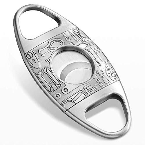 Cigar Cutter, Personalised Bronze Engraved Cigar Tool with Double Cut Blade Cigar Guillotine, Stainless Steel Cigar Knife, The for Cigar Lovers,Men's gifts