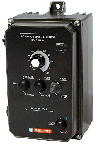 KB Electronics, 9987, KBAC-24D (Gray), 1HP, 1-Phase, 110-120V;200-240V (Input), Nema 4X Enclosure, Variable Frequency Drives