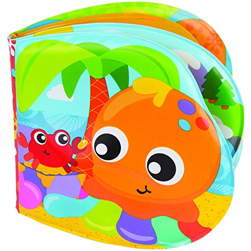 Playgro Libro de Baño, Con Sonidos, A partir de los 6 meses, Sin BPA, Splashing Fun Friends Bath Book, Multicolor, 40180
