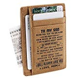 Son Memorial Gifts - Personalized Pocket Wallet For Daughter Gifts - 18th Birthday Graduation Christmas Gifts (Gifts For Son From Mom)