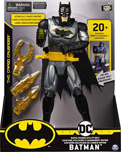 BATMAN 6055944 - Batman Batman Deluxe - Actionfigur mit Schnellwechsel - Ausrüstungsgürtel, Licht und Sounds