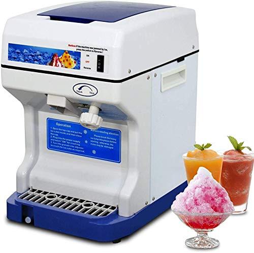 WUAZ 250W Tabletop Rasierte Eismaschine, Gewerbe Ice Shaver Schnee-Kegel-Maschine Eiszerkleinerungsmaschinemaschine, Perfekt Für Parties Events