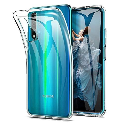 COPHONE® Funda para Huawei Nova 5T Funda Silicona Transparente de Silicona Antideslizante. Transparente Carcasa Huawei Nova 5T Fino y Discreto. Alta protecció