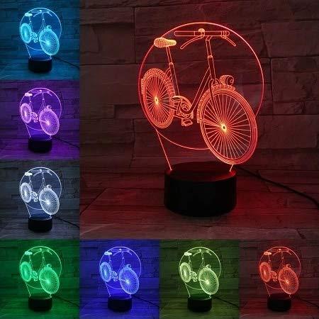 Motociclista 6D lámpara de mesa luz nocturna motocicleta LED acrílico multicolor decoración regalo para habitación de niños