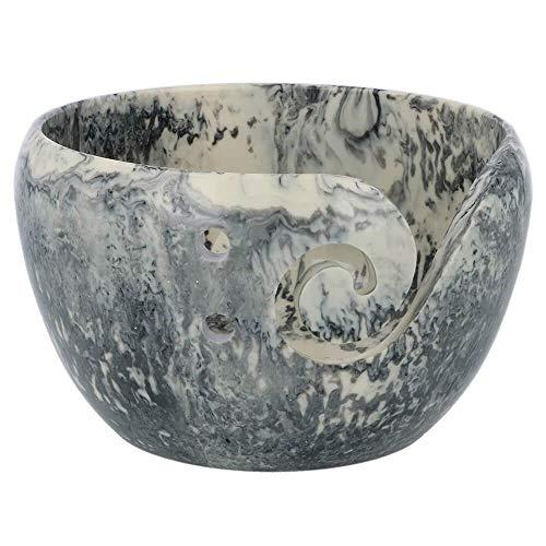 Cuenco de plástico para hilo (13 x 8 cm), diseño de mármol