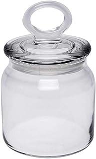 HomeStop Pasabache Round Clip Lock Storage Jar with Lid - 575 ml (Transparent_Free Size)