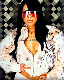 Aaliyah Autographed Preprint Signed Photo 1