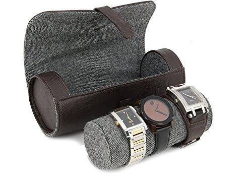 Executive High Class Herren Armband Armbänder und Schmuck-Geschenk-Box Art Deco Lederfarben