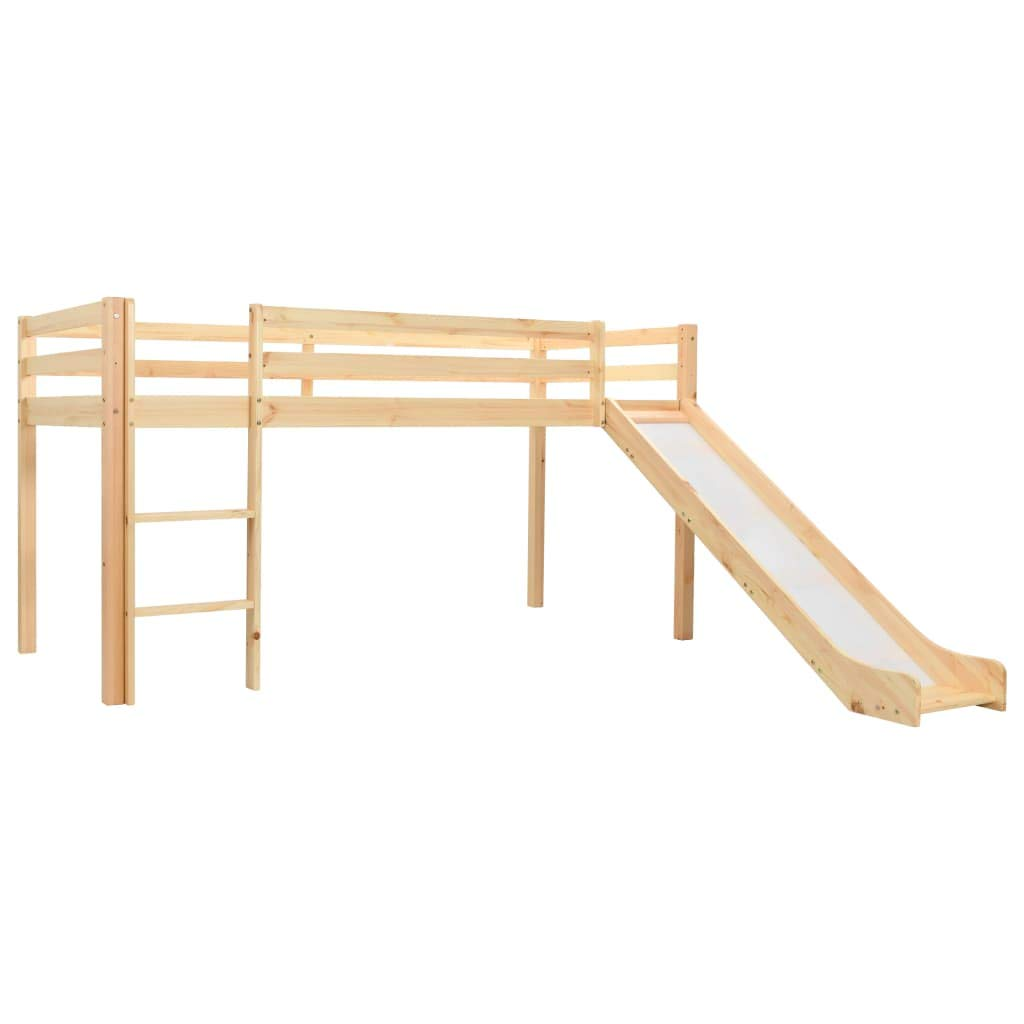 vidaXL Cama Alta para Niños Tobogán y Escalera Madera Pino 97x208 cm Somier Mueble Mobiliario Dormitorio Habitación Infantil Hogar: Amazon.es: Hogar