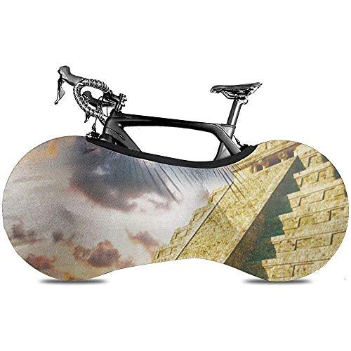L.BAN Cubierta de Rueda de Bicicleta Sweet-Heart, Cubierta de Bicicleta de neumático Resistente a Prueba de arañazos - Wonder Chichen Itza Mayan Pyramid World México