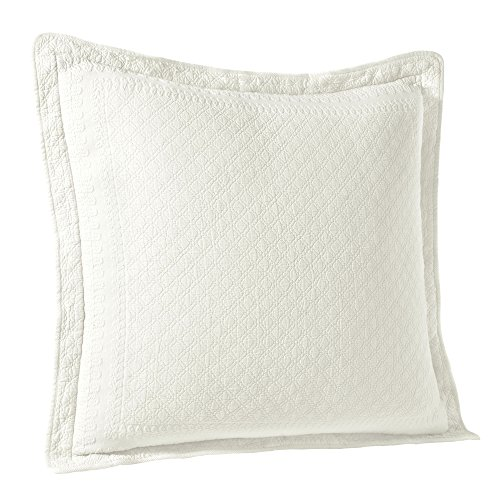 HISTORIC CHARLESTON Throw Pillow Covers - King Charles Decorative Pillow Cases Euro Sham for Sofa Couch Bedroom Living Room, 26' x 26', White