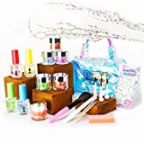 Dipping Powder Starter Kit 6 Winter Colors | 2X VOLUME | FREE TRAVEL BAG |USA MADE| Dip Starter Nail Kit| Essential & Portable Kit for Travel| Acrylic Dipping System for Nail Manicure Nail Art