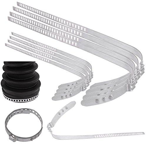 TecPo Universal Achsmanschetten Schellen 4X groß 4X klein 28 bis 124 mm Klemmschelle Ohrschelle