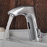 Badezimmer Waschbecken Armatur Thermostat ein Sensor heiße und kalte Waschbecken Waschtisch Armatur Smart Infrarot Automatik Mischbatterie Waschbecken Waschbecken Armaturen FaucetBathroom...