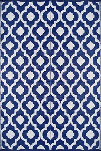 BalajeesUSA 6'x9' Patio Rug RV mat indoor outdoor rug plastic straw Camping mat Wholesale Price Dark Nv Blue 20317
