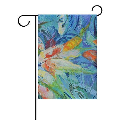 COOSUN Aquarel Vissen Schilderij Polyester Tuinvlag Outdoor Vlag Thuis Feest Tuin Decor, Dubbelzijdig, 12