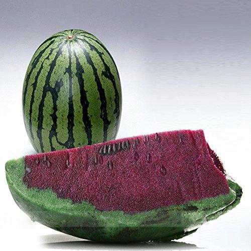 (Violet * Ambizu *) Vert peau pourpre intérieur doux Big pastèque F1 'Wu Hei' Graines, 1 Paquet professionnel, 20 graines