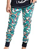 Lazy One I Believe Unicorn Women's Leggings and Tees, Pajama Separates, Cozy...